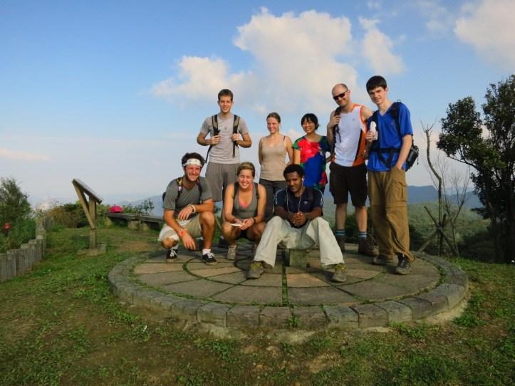 The gang on the summit of Mount Sifenziwei