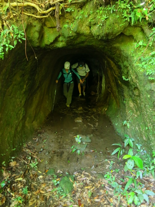 The Mountain Demon Cave, one of two abandoned tunnels dug through the hills here to make way for a mineral railway carrying coal out from mines