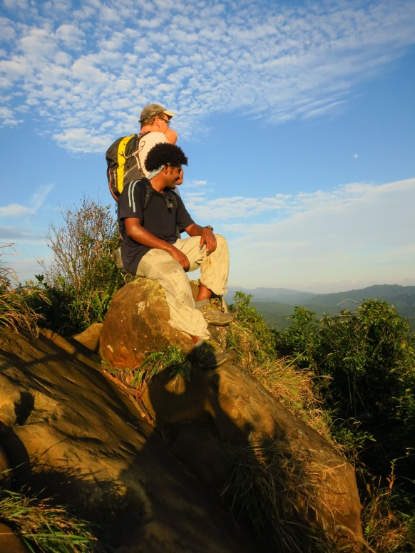 Thomas and Addis on top of the Stone Bamboo Shoot