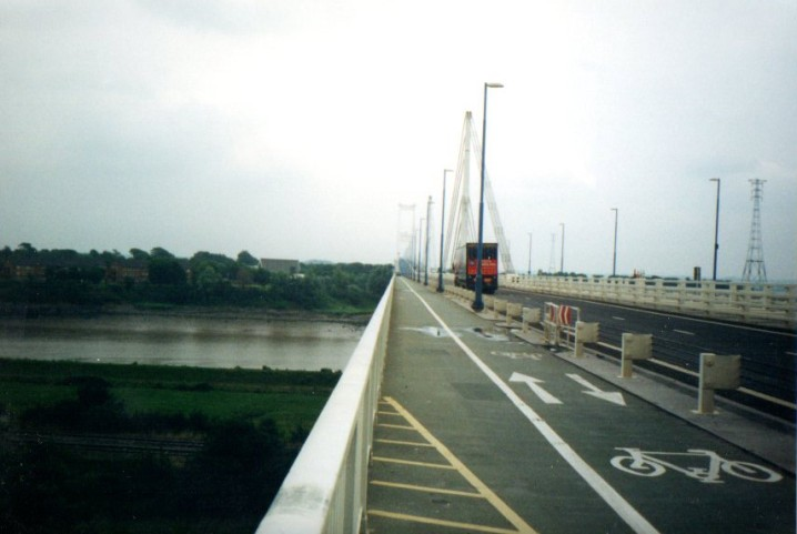 Crossing the Severn Bridge from England to Wales (day 28)