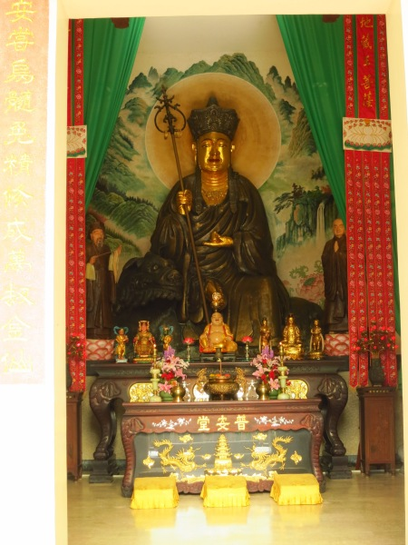 This Buddha statue was built before Puan Temple, which was later built over it when the original temple building nearby was abandoned