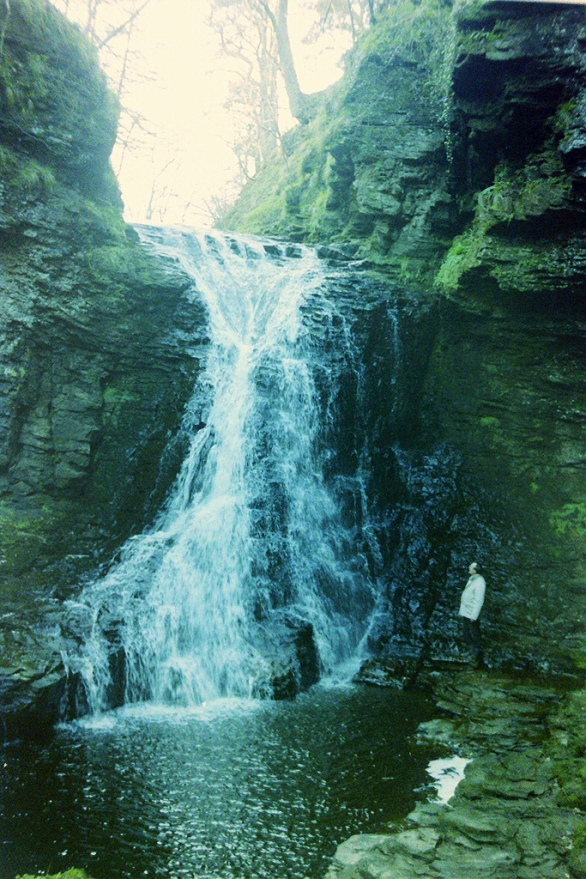 Hareshaw Linn lies just off the Pennine Way at Bellingham (day 62)