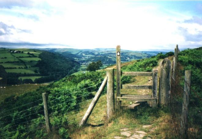 Offa's Dike Path near Knighton (day 36)
