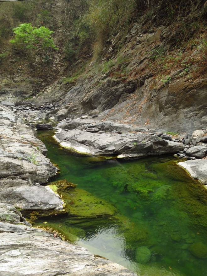 The river just downstream from the gorge and Poseidon's Palace