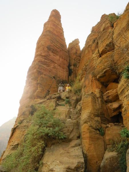 The beginning of the climb