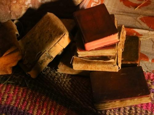 Books inside Abuma Yemata Geh church