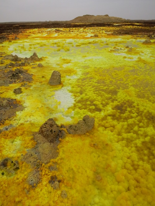 The amazing hot springs at Dallol