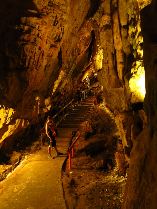 In the Fairy Cave (supposedly Taiwan's largest stalactite cave), Kenting Forest Recreation Area