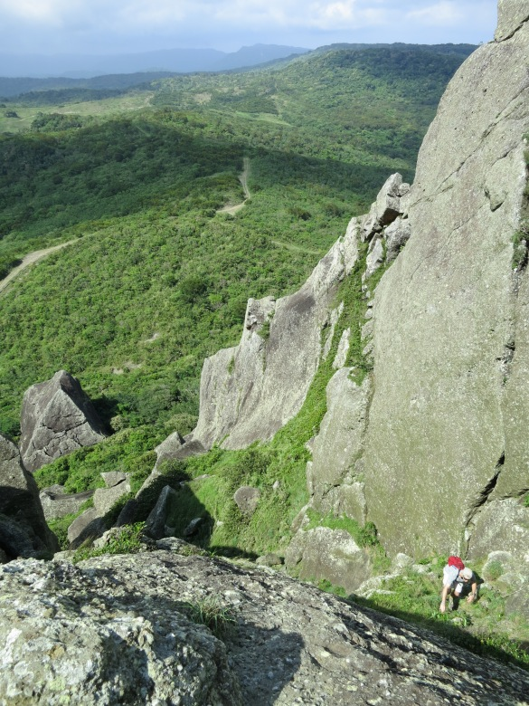 Climbing Big Sharp Rock Mountain, the Kenting area's most conspicuous (and impressive) landmark