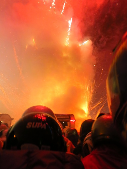Yanshui Beehive firework festival, a crazy, crazy event