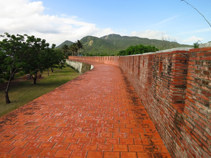 The old town walls at Hengchun