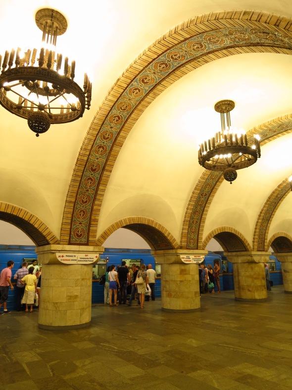 In Kiev metro