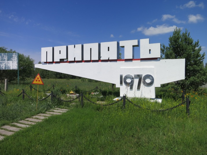 The town sign that announced the entrance to Prypyat