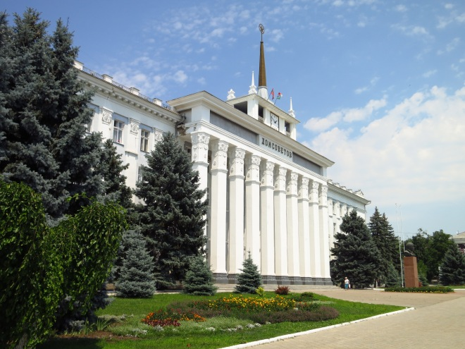 The Parliament building in Tiraspol