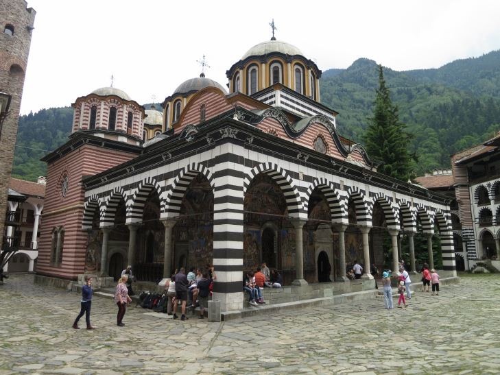 Rila Monastery, Bulgaria's most important religious center, is set in a beautiful mountain setting several hours south of the capital, Sofia.