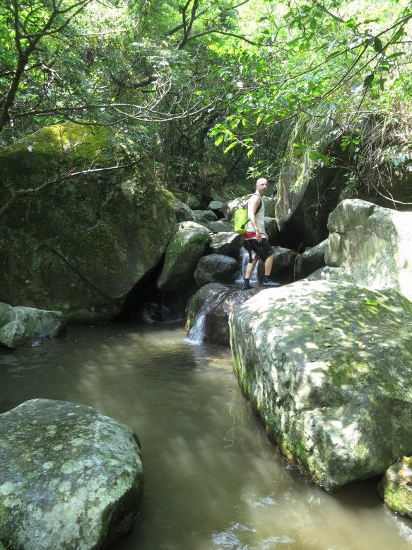 In many places the Toucian Stream flows between and over large boulders