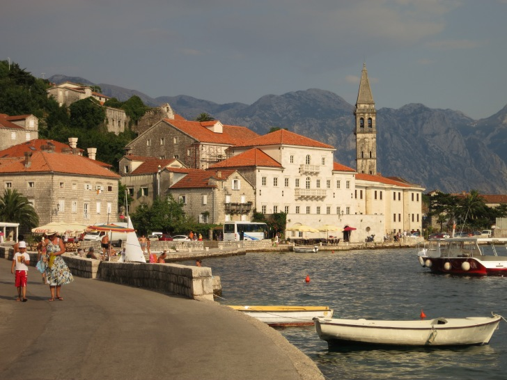 Perast, on the banks for the Bay of Kotor not far from Kotor town