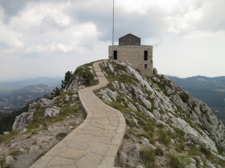 The mausoleum of King Njegos crowns the second highest peak in the rocky Montenegro ('black mountains'), after which the country is named