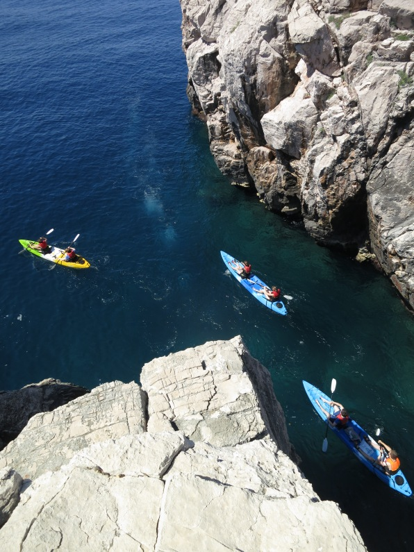Kyaking on one of the beautiful islands near Dubrovnik