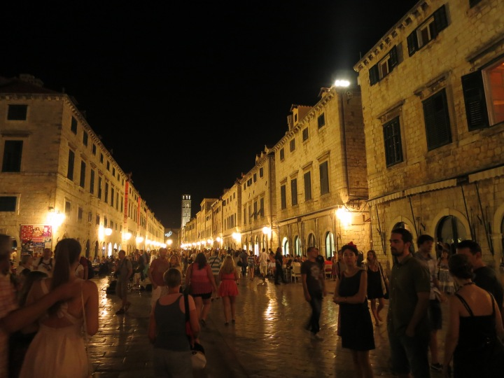 The main drag through Dubrovnik's old walled town, the Placa