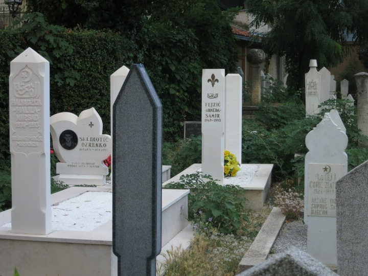 Cemetery in Mostar - note all the tombstones read '1993', during the horrific 18-month siege, during which the town was bombarded by Bosnians from the east and Croats from the west