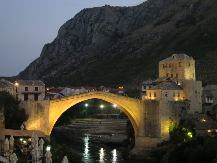Mostar's famous bridge, rebuilt after it was blown up in 1993, during the war