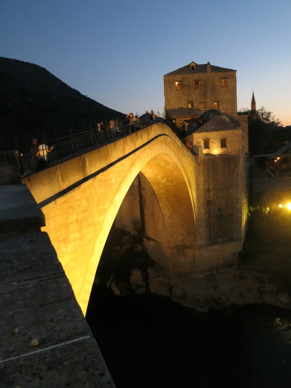 The magnificent rebuilt bridge at Mostar in Bosnia and Herzegovina