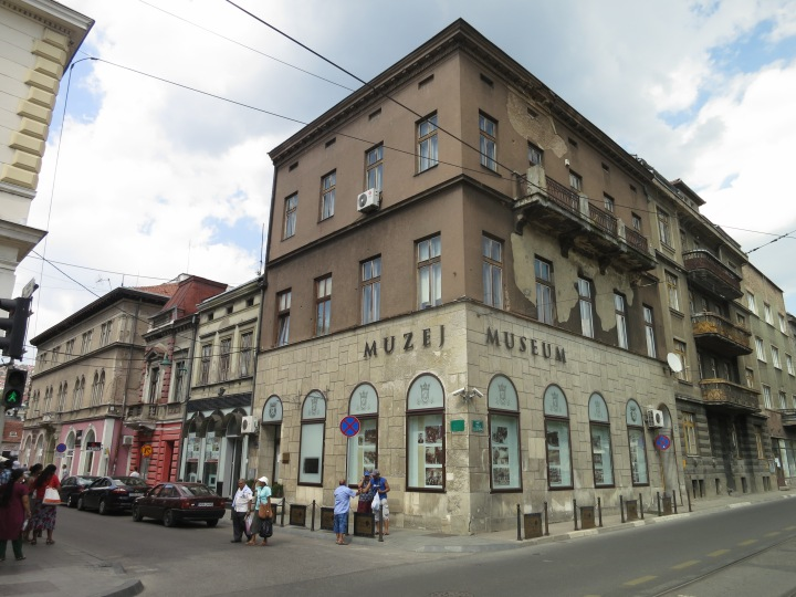Sarajevo: the spot where Gavrilo Princip shot the Archduke Ferdinand and triggered the First World War