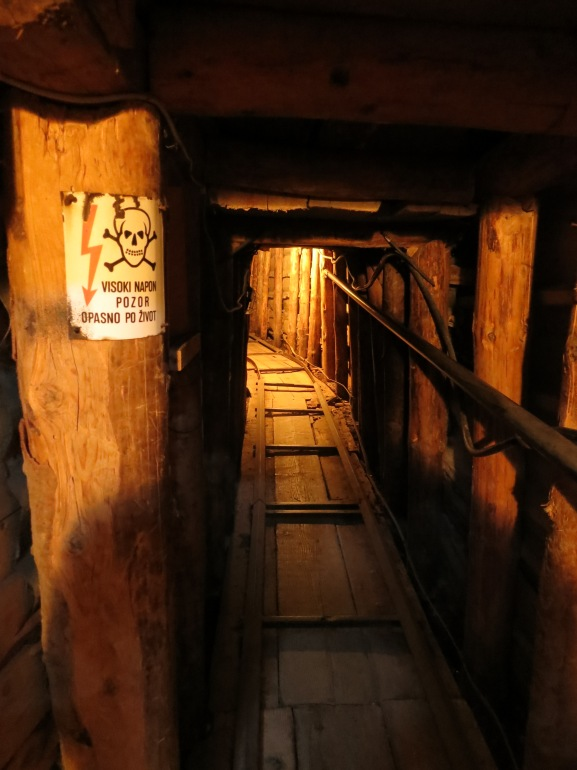 A short surviving section of Sarajevo's Tunnel of Hope