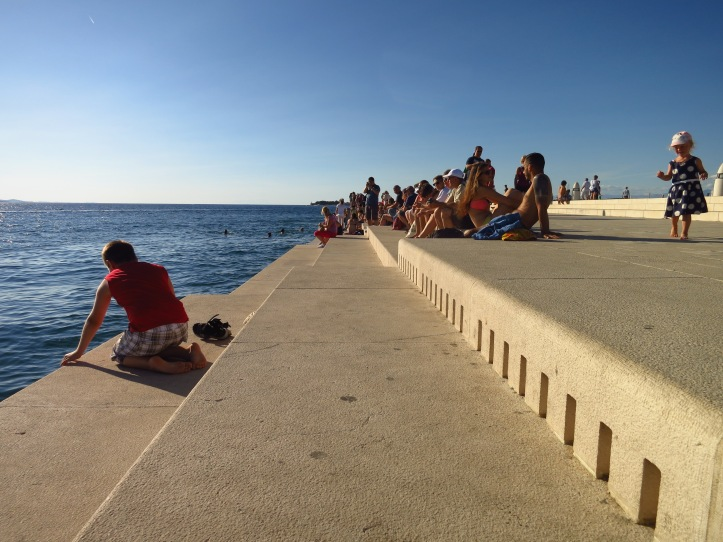 The unique Sea Organ at Zadar, where the movement of the waves creates a weird, hypnotically beautiful kind of music by forcing air through a series of pipes and out these holes