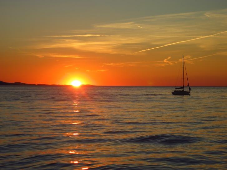 Sunset in beautiful Zadar