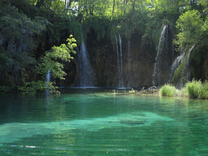 The eighteen Plitvice lakes are joined by a series of waterfalls