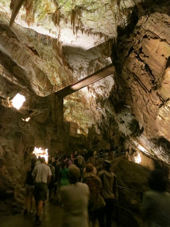 The huge Postjona Caves