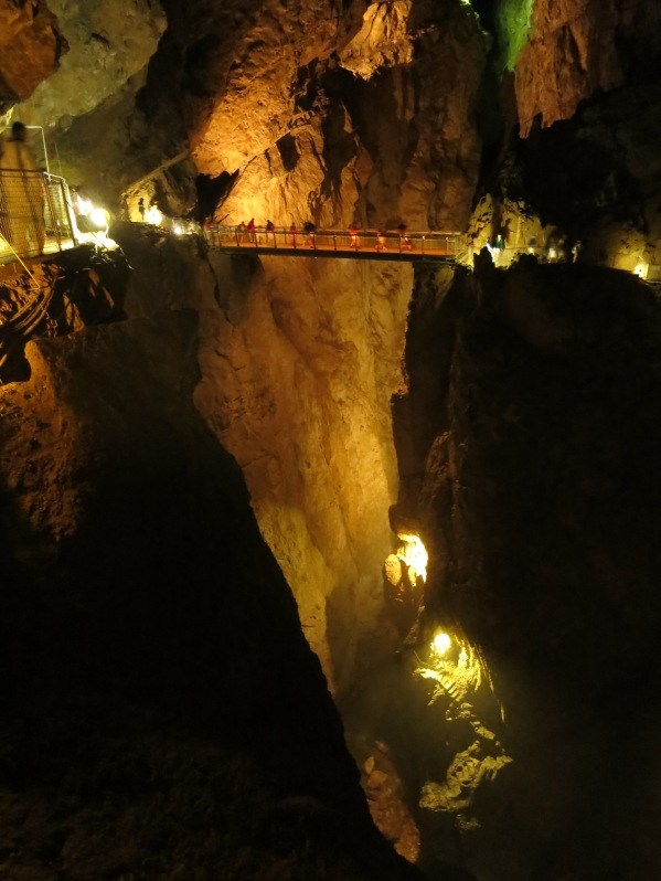 The vast underground canyon inside Skocjan Caves is hard to appreciate from photos - it's awesome!