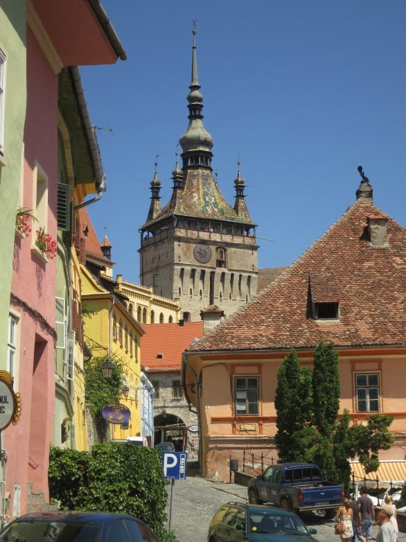 Sighisoara, in Transyvania; truly a fairytale setting