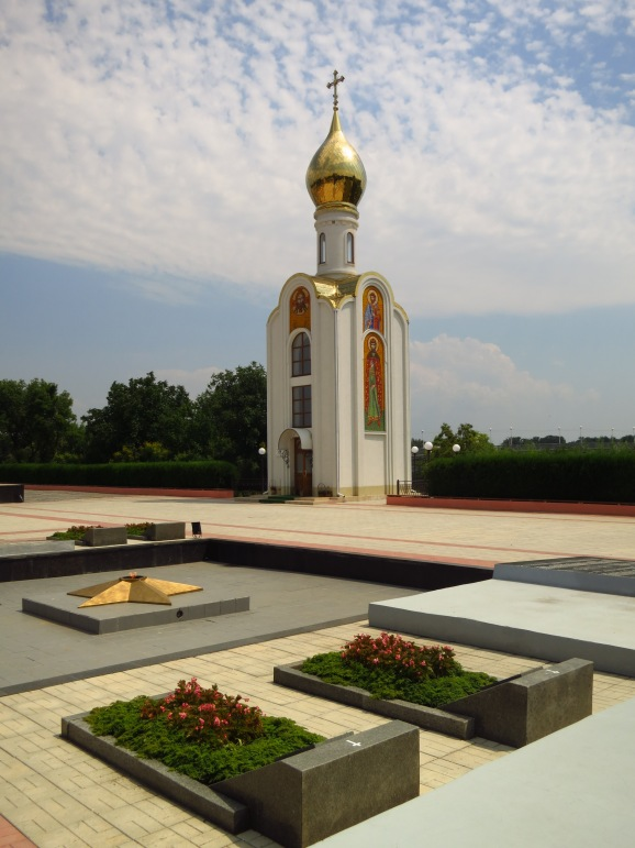 Chapel at the War Memorial in Tiraspol, 'capital' of the breakaway state of Transdniestr
