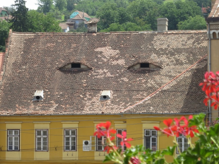 Sighisoara and the surrounding area is famed for the slightly spooky 'eye' windows in many buildings' roofs