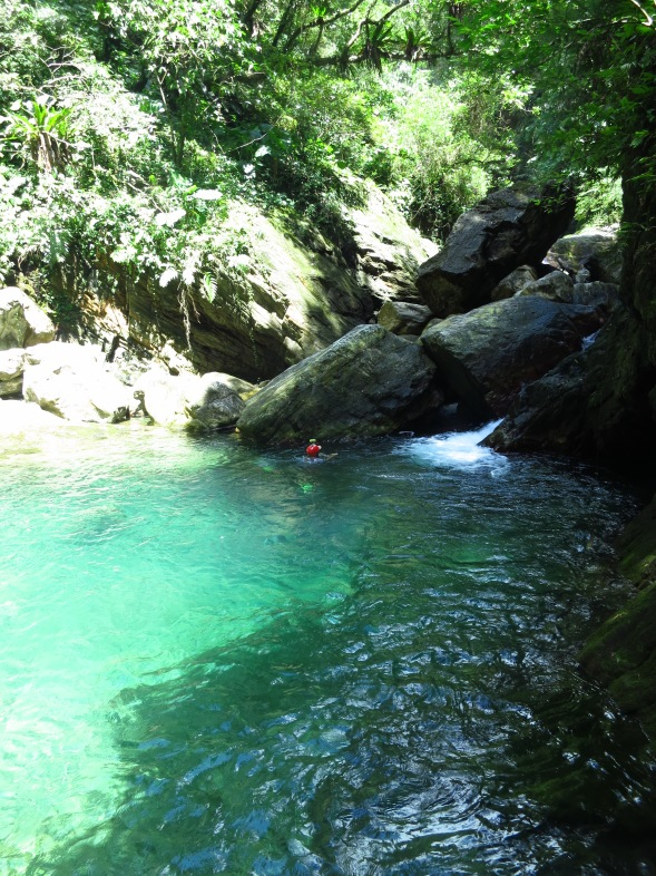 One of the beautiful, ultra-pure pools on the route