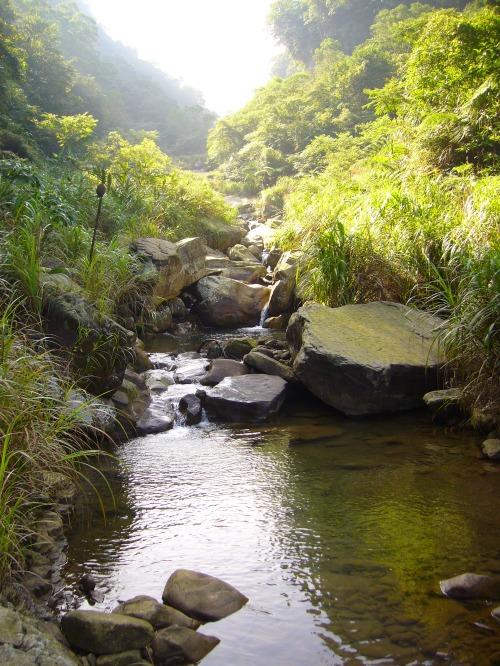 The Jiangziliao Stream, below the waterfall