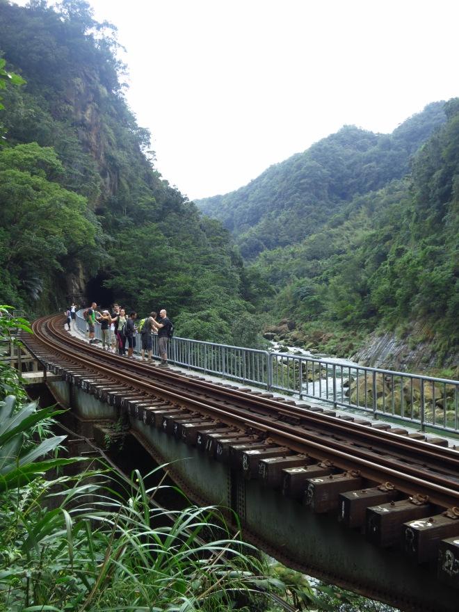 The train tracks below Youkeng Waterfall