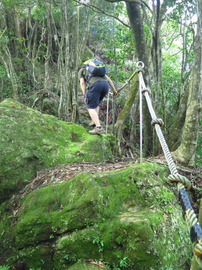 The short climb to the Flagpole Peak