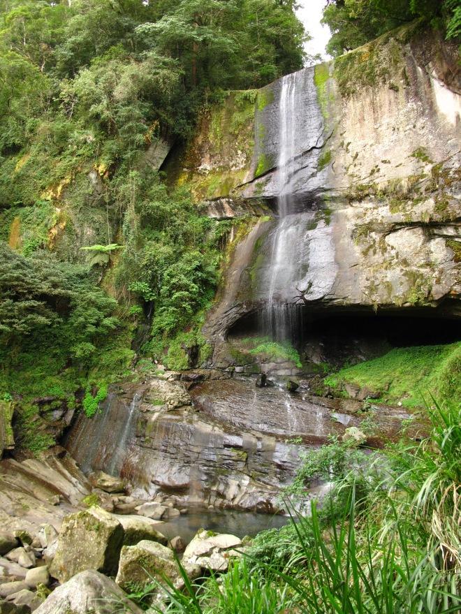 The impressive waterfall below Lovers' Glen