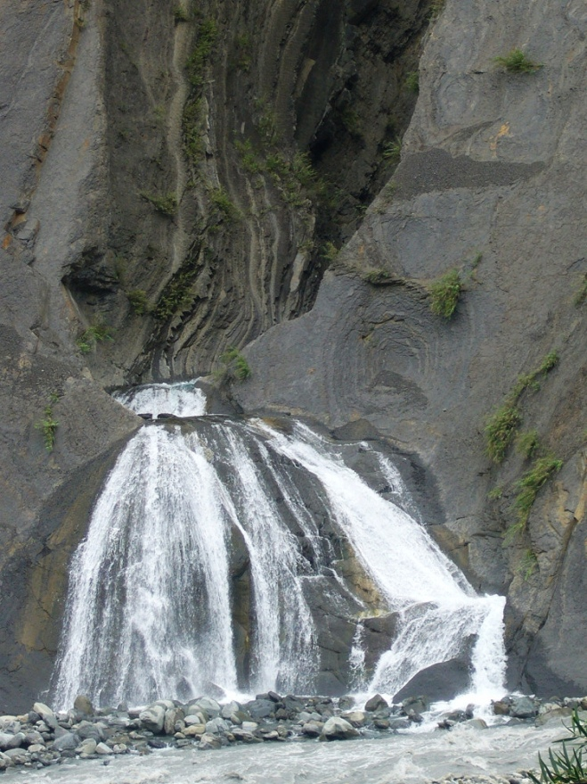 The YUanuang Waterfall on the Xiaonianxi in Kaohsiung County