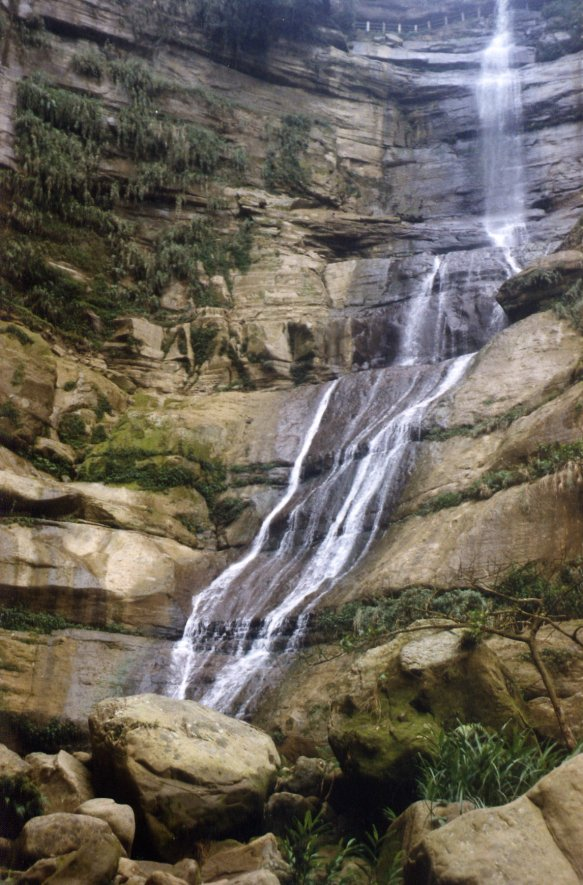 The lower reaches of the beautiful waterfall (print photo taken in the mid 1990s)