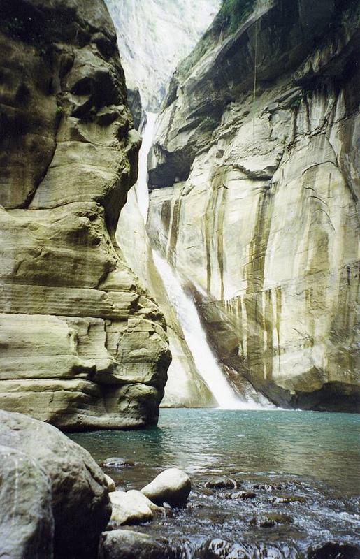 The magnificent Taiji Waterfall, at the head of the Inner Canyon at Taiji Canyon