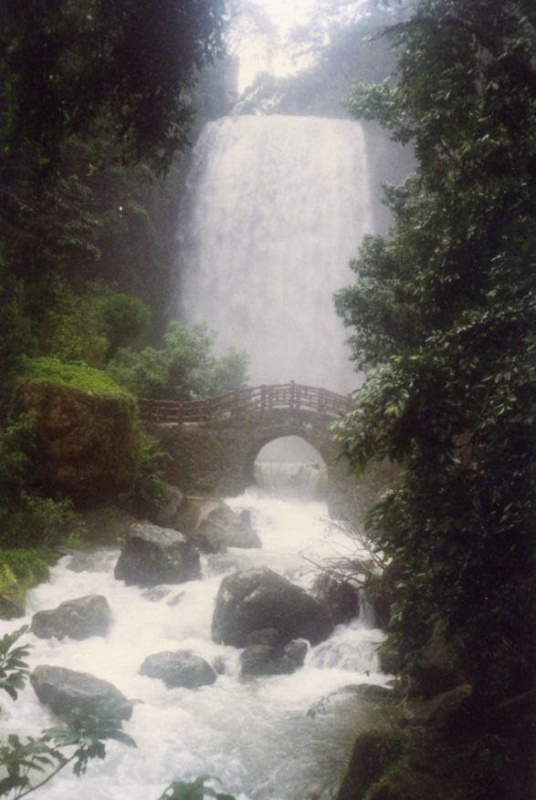 Emerald Stream Waterfall, in Barbarian Valley (photo taken in the mid 1990s)