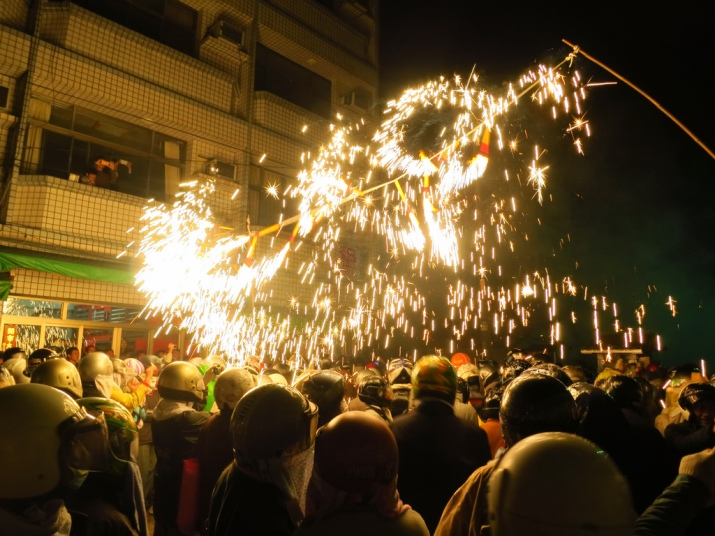 The spark shower is probably gentlest firework thrill at Yanshui. but it's very pretty