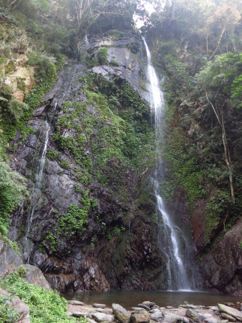 The main Guanyin Waterfall, in winter