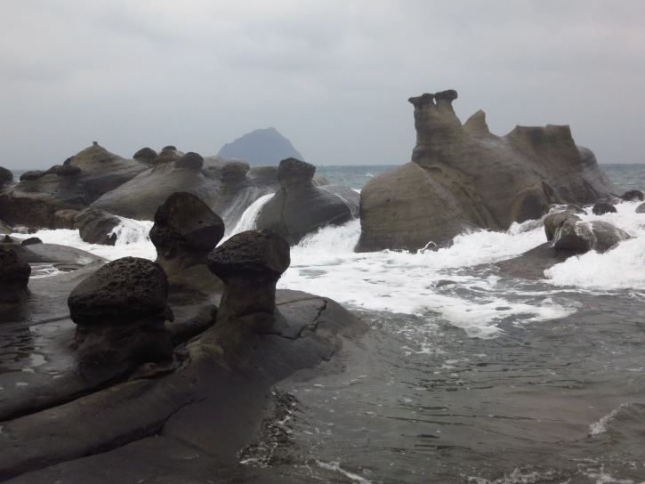 Some of the amazing rock formations at Hoping Island
