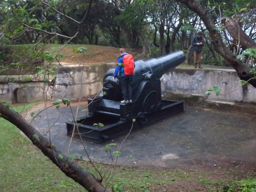 Replica cannon at Ershawan Fort